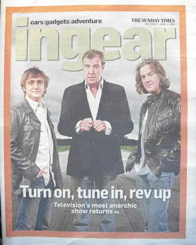 The Sunday Times In Gear newspaper supplement - Richard Hammond, James May