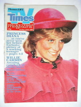TV Times cover page - Princess Diana (TV section - 29 May-4 June 1982)
