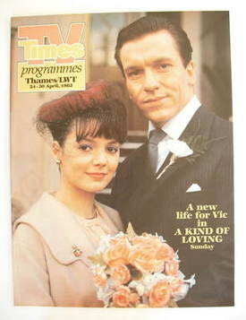 TV Times cover page - Joanne Whalley and Clive Wood (TV section - 24-30 Apr