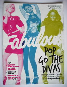 <!--2009-08-16-->Fabulous magazine - Sugababes cover (16 August 2009)