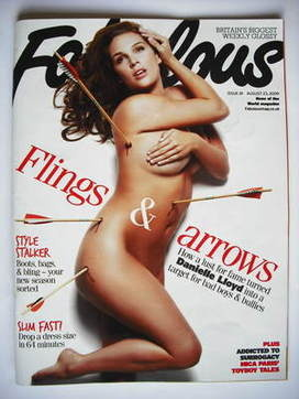 <!--2009-08-23-->Fabulous magazine - Danielle Lloyd cover (23 August 2009)