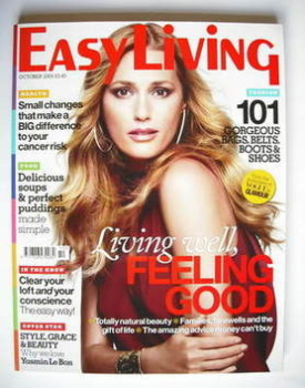 Easy Living magazine - October 2009 - Yasmin Le Bon cover