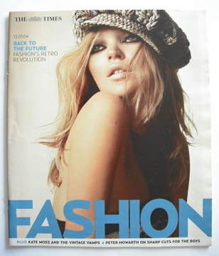 <!--2004-03-13-->The Times Fashion magazine - Kate Moss cover (13 March 200