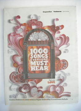 The Guardian newspaper supplement - 1000 Songs Everyone Must Hear (14 March