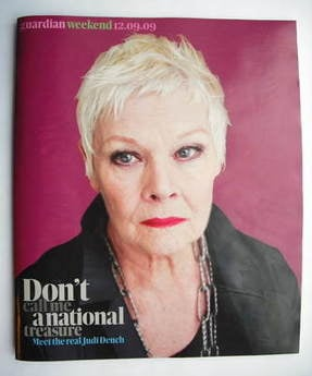 The Guardian Weekend magazine - 12 September 2009 - Judi Dench cover