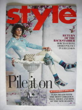 Style magazine - Pile It On cover (13 September 2009)