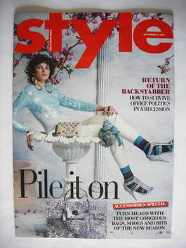 <!--2009-09-13-->Style magazine - Pile It On cover (13 September 2009)