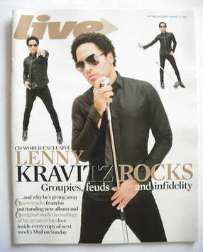 <!--2008-01-27-->Live magazine - Lenny Kravitz cover (27 January 2008)