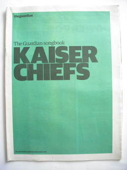 The Guardian newspaper supplement - Kaiser Chiefs songbook (19 May 2008)