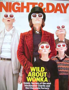 Night & Day magazine - Charlie and the Chocolate Factory cover (3 April 200