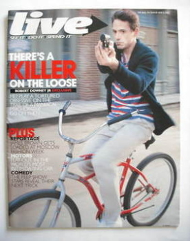 Live magazine - Robert Downey Jr cover (6 May 2007)