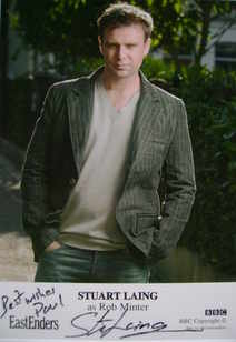Stuart Laing autograph (ex EastEnders actor)