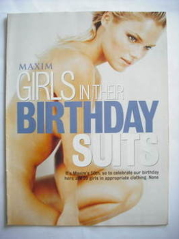 MAXIM supplement - Girls In Their Birthday Suits