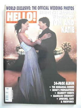 <!--2006-12-05-->Hello! magazine - Tom Cruise and Katie Holmes wedding cove