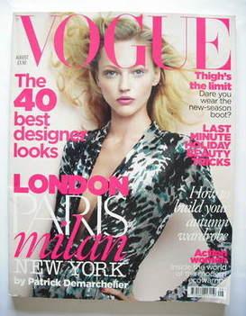 <!--2009-08-->British Vogue magazine - August 2009 - Sasha Pivovarova cover