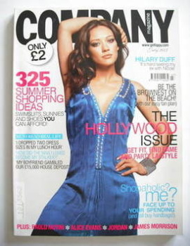Company magazine - July 2007 - Hilary Duff cover