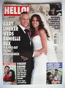 <!--2009-09-14-->Hello! magazine - Gary Lineker and Danielle Bux wedding co