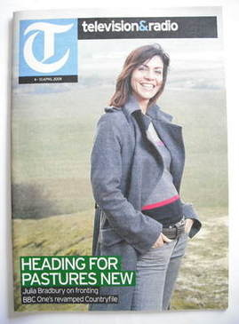 Television&Radio magazine - Julia Bradbury cover (4 April 2009)