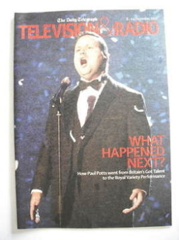 Television&Radio magazine - Paul Potts cover (8 December 2007)