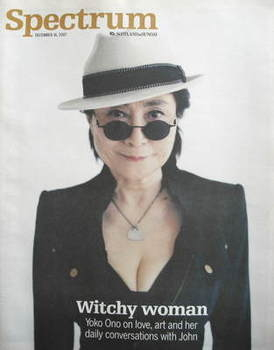 Spectrum magazine - Yoko Ono cover (16 December 2007)