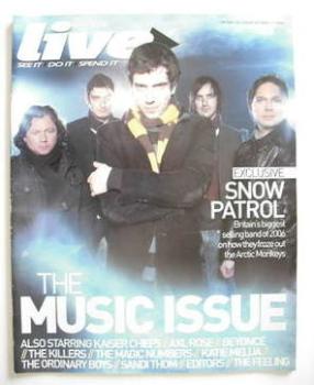 Live magazine - Snow Patrol cover (31 December 2006)