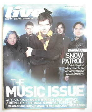 <!--2006-12-31-->Live magazine - Snow Patrol cover (31 December 2006)