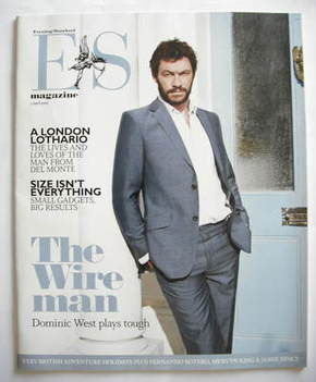 <!--2009-04-03-->Evening Standard magazine - Dominic West cover (3 April 20