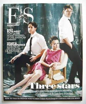 <!--2009-01-30-->Evening Standard magazine - James McAvoy, Lyndsey Marshal,