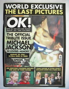 <!--2009-07-07-->OK! magazine - Michael Jackson cover (7 July 2009 - Issue