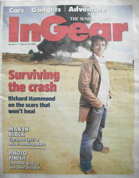 The Sunday Times In Gear newspaper supplement - Richard Hammond cover (24 F