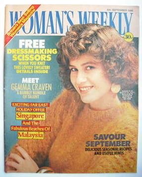 <!--1986-09-06-->Woman's Weekly magazine (6 September 1986 - British Editio