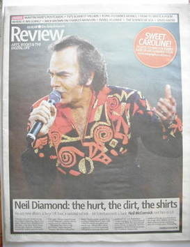 The Daily Telegraph Review newspaper supplement - 3 May 2008 - Neil Diamond