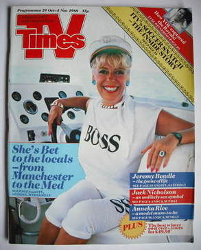 <!--1988-10-29-->TV Times magazine - Julie Goodyear cover (29 October - 4 N