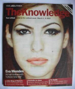 The Knowledge magazine - 3-9 March 2007 - Eva Mendes cover