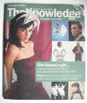 The Knowledge magazine - 30 August - 5 September 2008 - Katy Perry cover