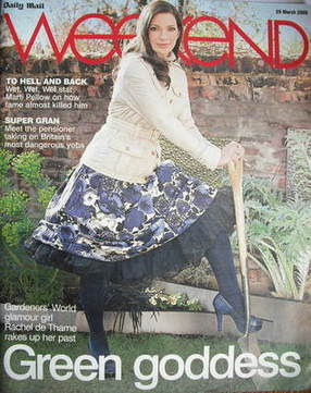 Weekend magazine - Rachel de Thame cover (29 March 2008)