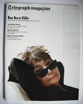<!--2009-09-19-->Telegraph magazine - Yoko Ono cover (19 September 2009)