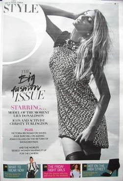 <!--2009-09-20-->Style magazine - Lily Donaldson cover (20 September 2009)