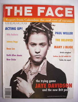 <!--1993-07-->The Face magazine - Jaye Davidson cover (July 1993 - Volume 2