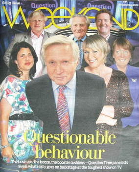 Weekend magazine - Question Time Panellists cover (19 September 2009)