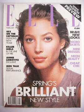 <!--1994-02-->British Elle magazine - February 1994 - Christy Turlington co