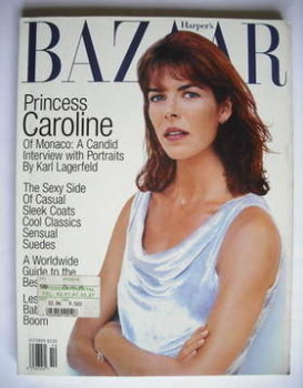Harper's Bazaar magazine - October 1996 - Princess Caroline cover