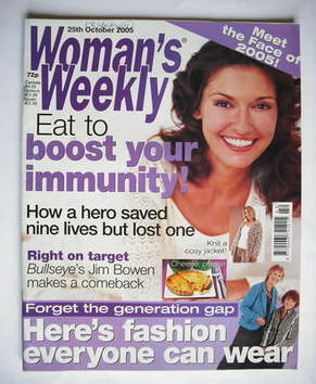 <!--2005-10-25-->Woman's Weekly magazine (25 October 2005 - British Edition