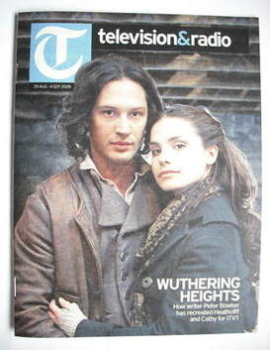 Television&Radio magazine - Tom Hardy and Charlotte Riley cover (29 August 2009)