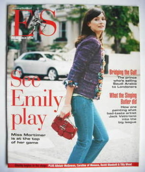 <!--2004-08-27-->Evening Standard magazine - Emily Mortimer cover (27 August 2004)