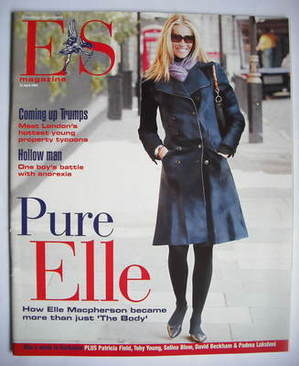 <!--2004-04-23-->Evening Standard magazine - Elle Macpherson cover (23 Apri