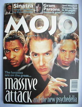 <!--1998-07-->MOJO magazine - Massive Attack cover (July 1998 - Issue 56)