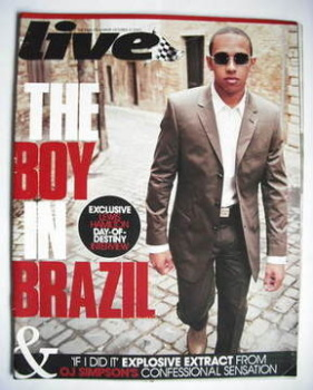 Live magazine - Lewis Hamilton cover (21 October 2007)