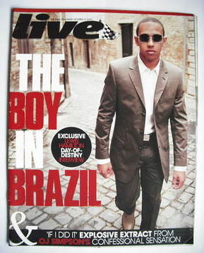 <!--2007-10-21-->Live magazine - Lewis Hamilton cover (21 October 2007)