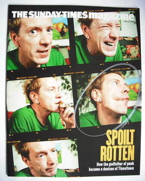 <!--2004-04-18-->The Sunday Times magazine - John Lydon cover (18 April 200